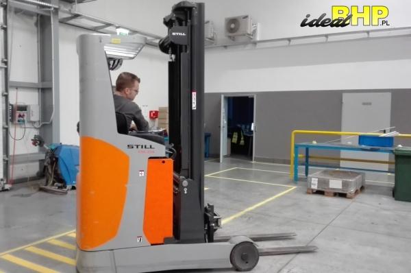 Kurs na wózki podnośnikowe wysokiego składowania z użyciem wózka bocznego Reach Truck