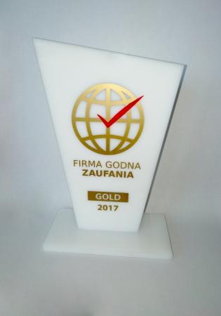 Statuetka Firma Godna Zaufania 2017 r.