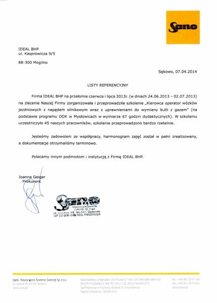 SANO – Nowoczesne Żywienie Zwierząt Sp. z o.o.